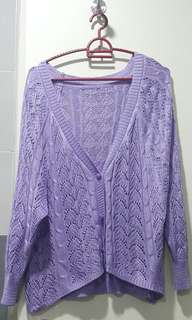 Purple color outwear