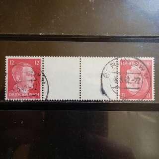 [lapyip1230] 納粹德國 1939年 希特拉 對倒郵票 VFU