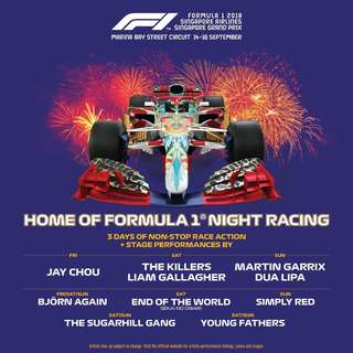 Looking for 2 Singapore f1 tickets