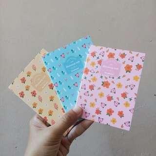 Mini Floral Blank notebook Sketch notebook