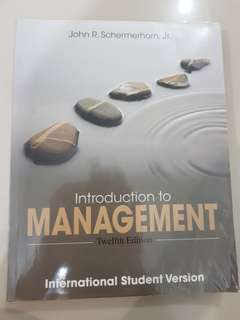 Introduction to Management Twelfth Edition