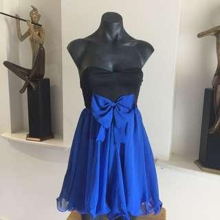 (M) DOTTI BLACK N BLUE DRESS