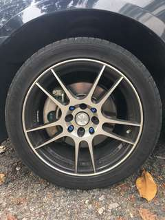 16 inch Sports rims and tyres (only 3 mths old)