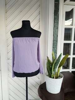 Purple Off Shoulder longsleeve