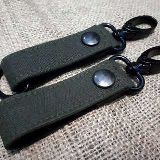 HANDMADE Lanyard Keychain Recycling Canvas Fabric
