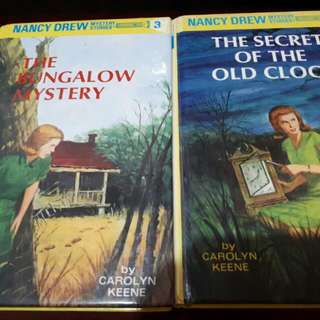 The Bungalow Mystery Nancy Drew Series #3  and The Secret of the Old Clock Nancy Drew Series #1