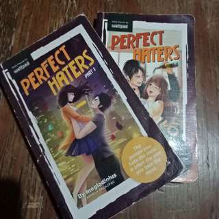 Wattpad: Perfect Haters Book 1 and 2