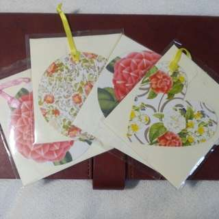 Greeting Tag Floral Cards