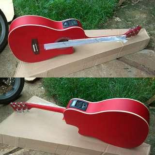 Gitar akustik elektrik pabrik ori tuner