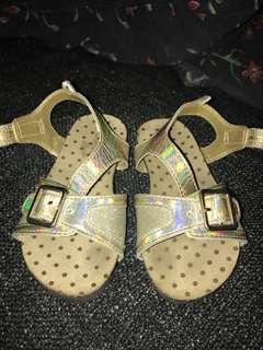 Osh Kosh gold sandals