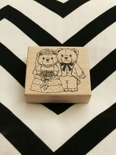 Stamp Chop in Couple Bear design