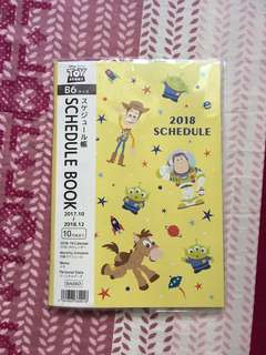 Toy story schedule book 2018