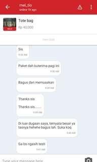 The sweetest buyer ever, ga neko2 ga php, dah gt menawarkan diri utk kasi testi.. Such a good attitude siss