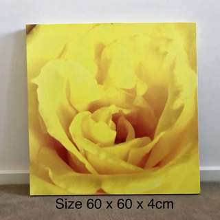 """Yellow Rose"" Canvas Wall Art Print"
