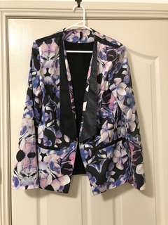 Staple the Label Pink, Purple and Blue Floral Blazer Jacket Size 10