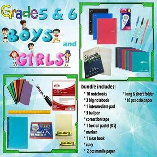 Grade 5&6 boys and girls school supplies