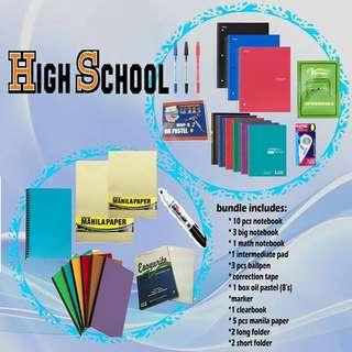 Junior highschool school supplies