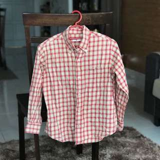 Uniqlo checkered top / bf shirt