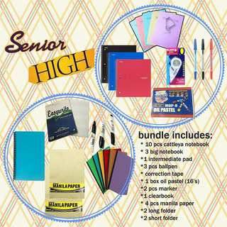 Senior highschool school supplies