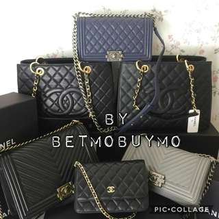 TAKE ALL 6PCS CHANEL BAGS WITH SERIAL CARDS DUSTBAG AND BOX