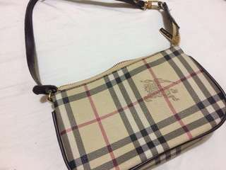 Burberry Classic Check Coated Canvas Pochette Bag