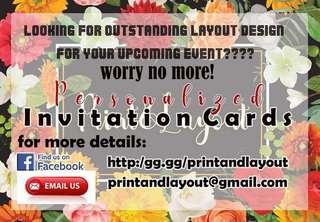 All types of invitation!