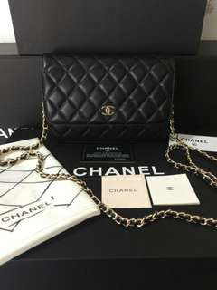 CHANEL WOC LAMBSKIN GOLD HARDWARE