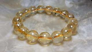 600 pesos off! 12mm Genuine Citrine Bracelet