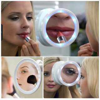 2018 NEWEST Professional Makeup Vanity Mirror LED Lighted Portable Cosmetic 5x Magnification with Locking Suction Cup for Home Bathroom Shower Travel
