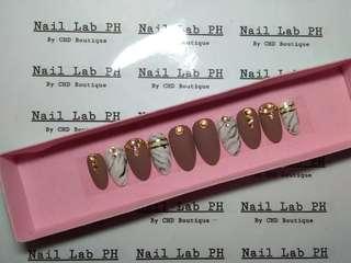 Neutral marble Fake nails faux nails false nails customize press on nails