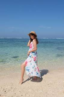 Flowery long dress