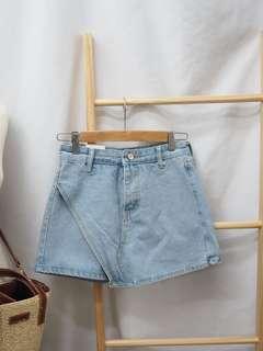 🚚 ✨現貨😍淺色牛仔褲裙S.M