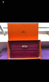 Hermes Kelly Wallet 100%real 陪驗