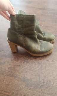 Olive Green Hush Puppies Heels