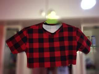 Plaid croptop