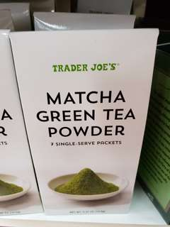 Trader joe's green tea powder