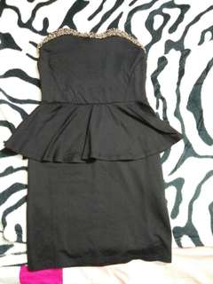 Heart shape black dress