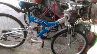 Bicycle double shock
