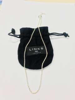 (New)Links of London 全新純銀18吋頸鍊 45cm 925 Silver Pendant Chain  -Retail price HKD640
