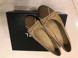 Chanel麂皮芭蕾舞鞋36.5號