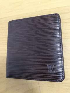 LV Wallet epi dark brown 正品 銀包 100%real