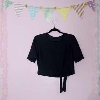 Black lilytie blouse