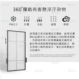 蟎著媽副廠系列 適用於安麗第二代 黑白雙效組合包(高效能HEPA濾網加椰殼活性碳濾網)型號:10-1076T