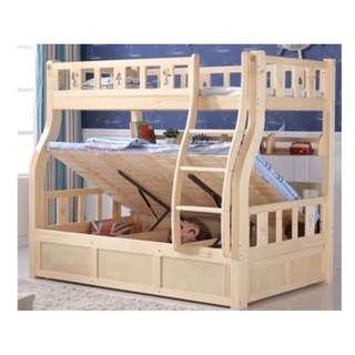 油壓床  實木床 碌架床 雙層床 組合床 上三下四 180525-原木色