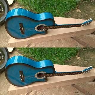 Gitar blu akustik pemula