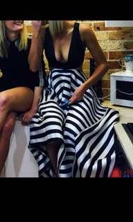 Nicholas The Label - Thin stripe Scarf Hem Dress