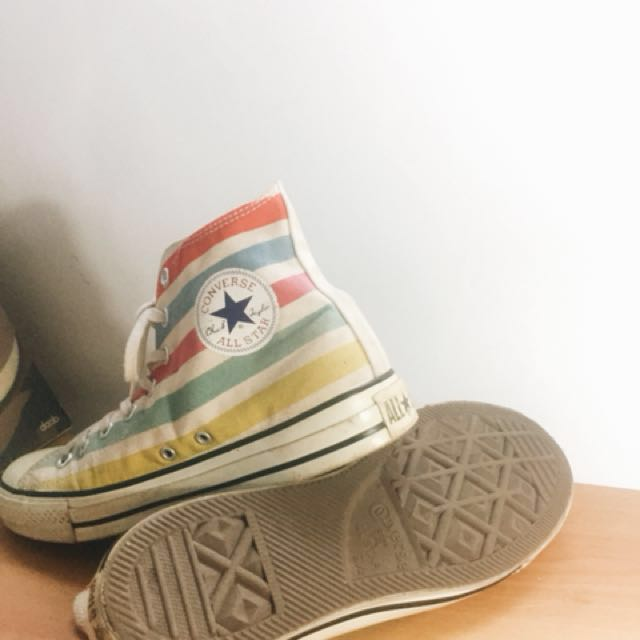 a3a782614115 2014 Jointly American Flag Converse Chuck Taylor All Star Multi Colored  Stripes High Top