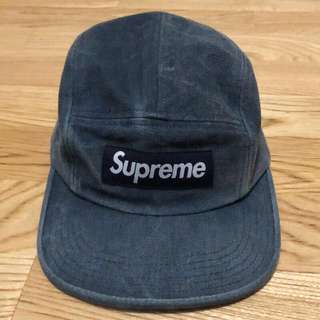 SUPREME 15SS STONE WASHED CANVAS CAMP CAP 真品 正品 五分帽