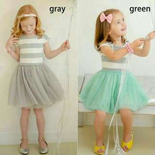 *FREE DELIVERY to WM only / Ready stock# Kids stripes tutu dress each 12m-5yo as shown in design/color. Free delivery is applied for this item.