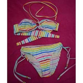 Rainbow Two Piece Swimwear